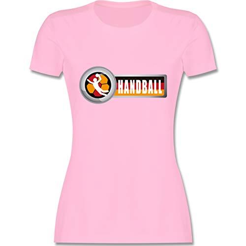 Handball WM 2019 - Handball Deutschland 2 - L - Rosa - L191 - Damen Tshirt und Frauen T-Shirt