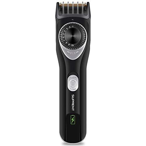 SUPRENT Bart Trimmer Herren Verstellbarer mit 20 Längeneinstellungen Bartschneider Testsieger Barttrimmer Präzisionstrimmer Elektrisch für Männer