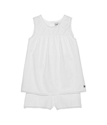 Petit Bateau Baumwoll-höschen (Petit Bateau Mädchen Zweiteiliger Schlafanzug pyjacourt, Einfarbig, Gr. 128 (Herstellergröße: 8ans/126cm), Weiß (ECUME 01))