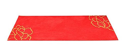 HDWN Ultra - fibra fine stuoie tappeto anti - pad di aspirazione porta bagno skid per porte scorrevoli per Mizi , red peony , 50*120cm