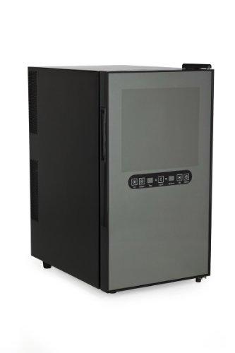 AMSTYLE Design Minikühlschrank Weinkühlschrank 48 Liter - 18 Flaschen 8°C-18°C - 2-Zonen Minibar
