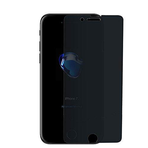 iPhone 7 7Plus Anti-Peeping 2.5D Curve Full Cover gehärtetes Glas Cover Kante-zu-Kante [Anti Blue-Light] [9H Härte] [HD klar] Anti-Kratzer Anti-Fingerabdruck-Displayschutzfolie, Full Cover 7 Plus