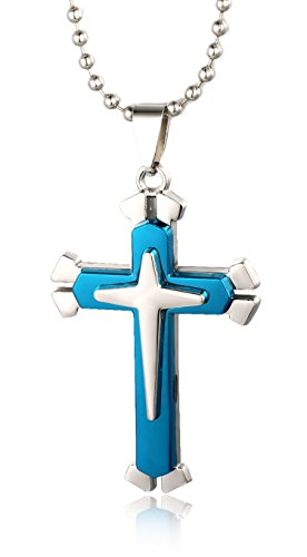 halukakah-just-a-cross-mens-titanium-steel-double-layer-cross-pendant-necklace-blue-with-free-bead-c