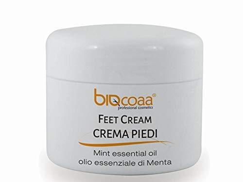 Crema piedi Biocoaa - specifica per i cattivi odori - con olio essenziale di menta - aiuta a contrastare i piedi stanchi e affaticati - prodotto naturale - 100 ml black friday