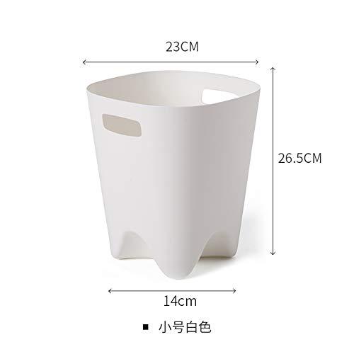 einfache große offene Mülleimer Bad einfache Papierkorb Hause Küche Wohnzimmer Kunststoff Mülleimer, kleine weiße ()