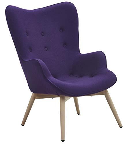 SalesFever Sessel mit Armlehnen und Webstoff bezogen Anjo lila