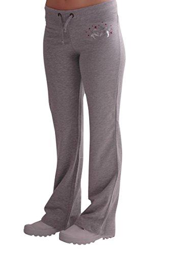 Eyecatch - Décontracté Femmes Graphiques Joggeurs Jogging Survêtement Pantalons Gris avec Fushia