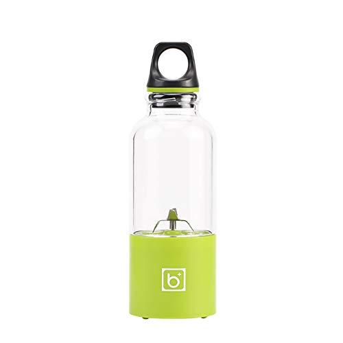 NaPuDt Tragbarer Entsafter, USB Elektrische Saftpresse, 500ml Wasserdicht Frucht-Maschinen Shake Saft Babynahrung auf Küche Reise-Grün (Frucht-entsafter Bar)