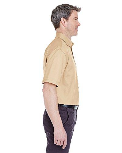 Herren-Hemd Cypress 8965, Kurzarm, Denim, mit Tasche Khaki