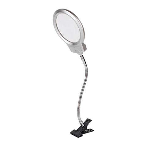 Manalada® Desktop-Lupe Lupe Metallschlauch LED-Licht-Lampe mit Klemm Clip -