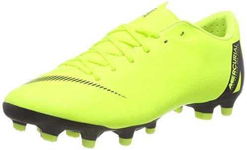 Nike Unisex-Erwachsene Vapor 12 Academy Mg Fußballschuhe Grün (Volt/Black 701) 40.5 EU