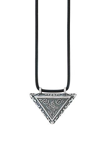 Remi Bijou 925 Silber Anhänger \'Muska\' mit schwarzem Schnur - Islam Muslim - Schwarz Farbe