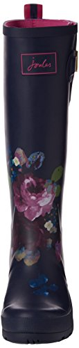 Tom Joule Damen T_wellyprint Gummistiefel Blue (Exclusive Amazon Floral)