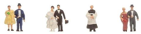 Faller 155330 - Brautpaar mit Pfarrer Figuren