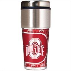 Great American NCAA Ohio State Buckeyes 16oz Reisen Tumbler mit Metallic Wrap (Damen Ohio State Hat)