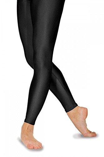 Roch Valley FLST Ballett Strumpfhosen ohne Fußteil aus Lycra Schwarz 4 (38)