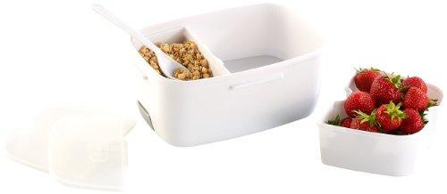 Rosenstein & Söhne Thermo-Lunchbox, mit 2 Fächern & Löffel, 35 W - 2