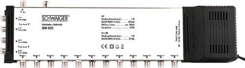 Schwaiger SEW4512531 5/12 Satelliten-Multischalter silber