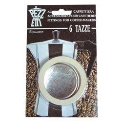 Pezzetti 3guarnizione in gomma/anelli + filtro–replacement- misure 1,2,3,6,9,14tazze da caffè espresso moka pot, 14 cup