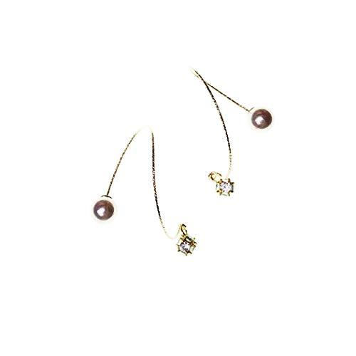 YOYOYAYA Beutel Mit 14K Gold Schmuck Ohrringe Frauen Mädchen Einfachheit Perlen Quasten Ohrringe Parteien Termine Anhänger Allergie Prävention