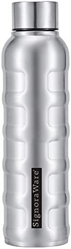 Signoraware Single Walled Stainless Steel Fridge Water Bottle, 1000 ml, Silver