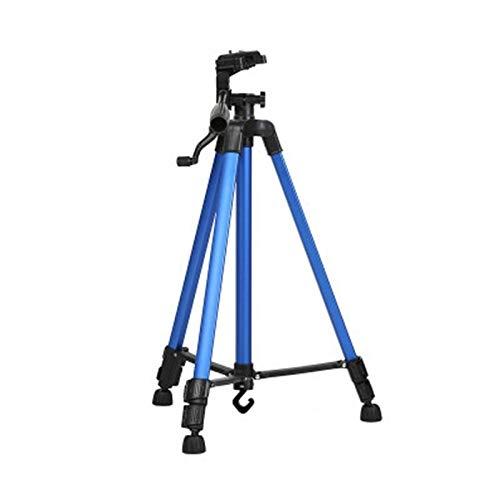 Linxiucen NEUES bewegliches Telefon Live-Selfie 3366 Stativ DV SLR-Kamera Selbstauslöser Voll Light Bracket (Silber) (Farbe : Blue)