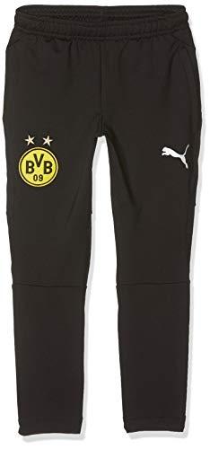 PUMA Kinder BVB Tapered Pockets with Zippers Trainingshose, Black, 152 Jungen Zipper