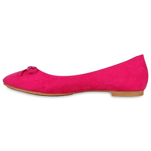 Klassische Damen Ballerinas Spitzen Details Freizeit Flats Pink Schleife