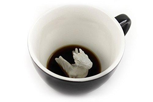 Taza de Dragón Creature Cups, 325 ml, Negra