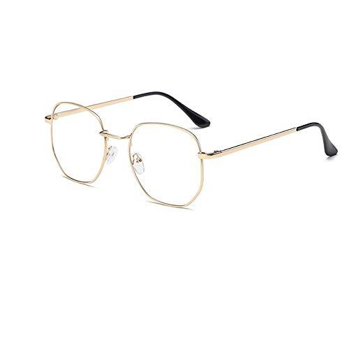 XCYQ Brillengestell Brillengestell Vintage Metallbrille Myopie Metallrahmen Klare Linse Brille Nerd Brille Brille, B