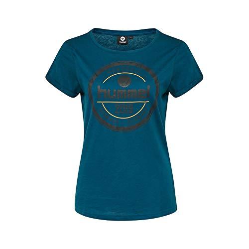 Hummel Damen HMLBIRLA T-Shirt S/S, Poseidon, M