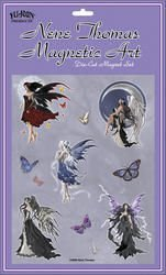 Nene Thomas - Angel Five Incredible Fairy Magnet Set decalcomania Sticker Decal - 6.5