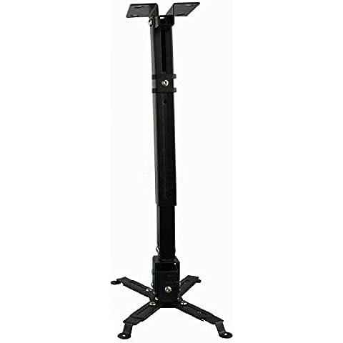 Soporte de proyector para techo 100-180cm ajustable negro