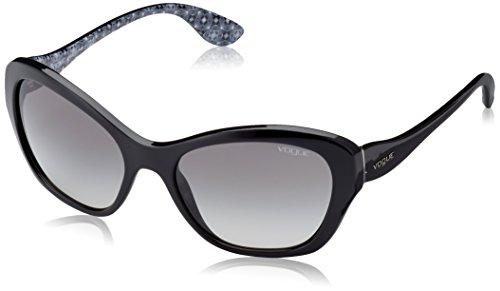 Vogue Gradient Butterfly Sunglasses (0VO2918SW44/11Medium) (Black) image