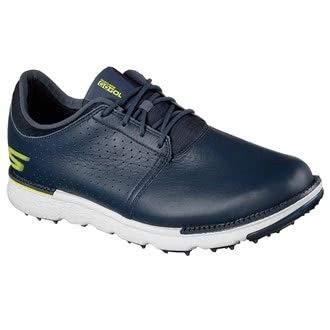 Skechers Go Golf Elite 3 Approach LX, Scarpe da Golf Uomo M US, Blu (Navy/Gray), 42.5 EU