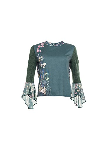 Smash! Lonopa, T-Shirt Donna Verde (Dark Green) (scuro)