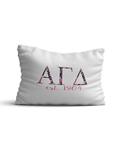 Desert Cactus Alpha Gamma Delta Sorority Floral Buchstaben mit Gründungsjahr Kissenbezüge 300Fadenzahl 100% Baumwolle Alpha Gam -