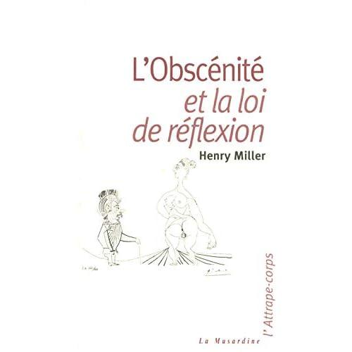 L'obscenite et la loi de réflexion