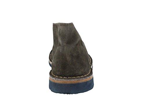 Frau scarpe tipo clarks in camoscio washed e suola di gomma salvia