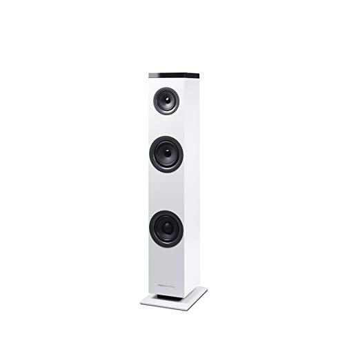 Energy Sistem Tower 1 - Sistema de Altavoces en Torre (Bluetooth 4.1, 30 W, RCA, 3.5 mm Audio-in) Blanco