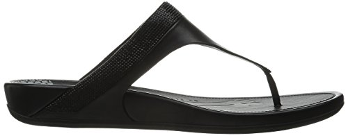 FitFlop - Banda Tm Micro-crystal Toe-post, Infradito Donna Nero