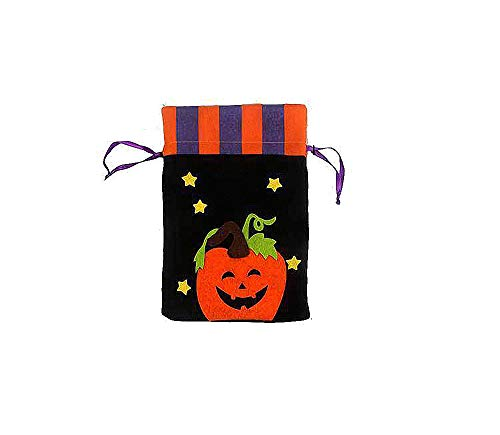 Halloween Tasche Deko Artikel Cookie oder Apple in Geschenk Tüte, schwarz