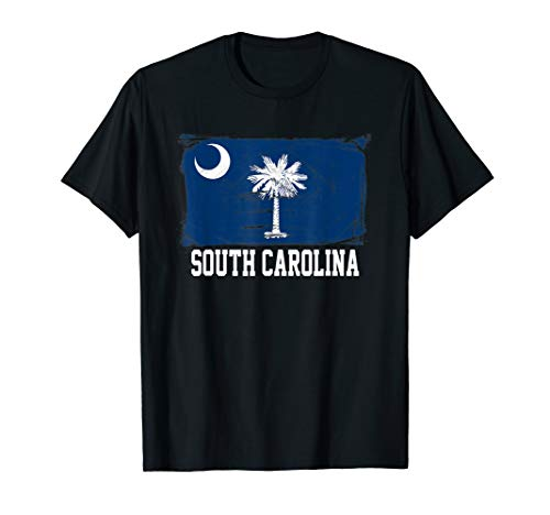 South Carolina Damen T-shirt (South Carolina United States Vintage Distressed Flag T Shirt)