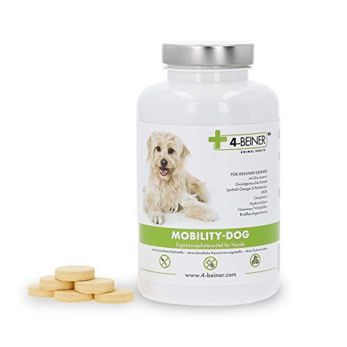 4-Beiner MOBILITY-DOG – natürliche Gelenk-Unterstützung mit Chondroitin, Glucosamin, MSM, Hyaluron, Weihrauch, Teufelskralle, Grünlipp-Muschel Extrakt, Bromelain, Kurkuma, 120 Gelenk-Tabletten