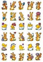 3687 Sticker DECOR Kleine Hasen + Küken