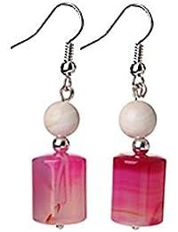 d254a7ab290b TreasureBay - Pendientes Colgantes de Plata y Piedra Preciosa para Mujer