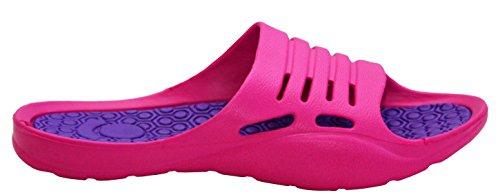 A&H Footwear ,  Damen Durchgängies Plateau Sandalen Fuchsia/Lilac