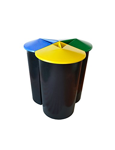 Zanvic Cubo Reciclaje Resistente 3 Compartimentos