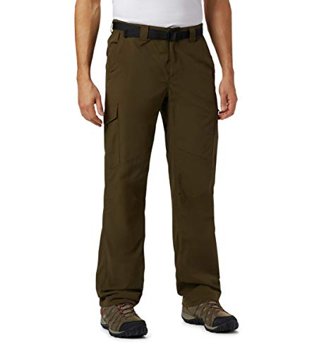 Columbia Men's Silver Ridge Cargo Pant, Olive Green, 44x34 -