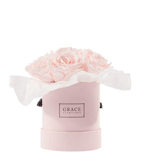GRACE Flowerbox | PINK BOUQUET | Pink Baby Flowerbox Bouquet | 7-11 echte konservierte Rosen | 1-3 Jahre haltbare Infinity Rosen | Bekannt aus